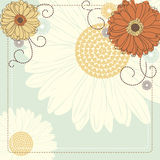 Background with flowers. Vector background with flowers for wedding and invitation Stock Image