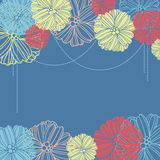 Background with flowers. Vector background with flowers for wedding and invitation Stock Illustration