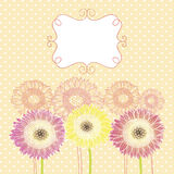 Background with flowers. Vector background with flowers for wedding and invitation Royalty Free Stock Photography