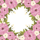 Background with flowers. Vector background with flowers for wedding and invitation Royalty Free Stock Image