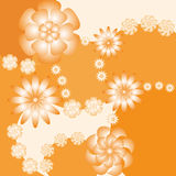 Background with flowers. Illustration Royalty Free Stock Photo