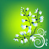 Background  with flowers. This image is a vector illustration and can be scaled to any size without loss of resolution. This image will download as a .eps file Royalty Free Stock Photo