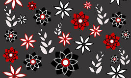 Background with flowers. Abstract colorful background with flowers stock illustration