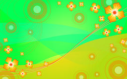 Background with flowers. Abstract colorful background with flowers Royalty Free Stock Image