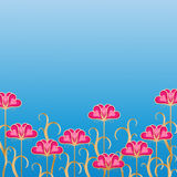 Background with flowers. Stock Image