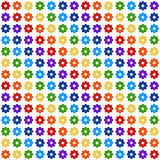 Background with flowers (Big). Background with flowers (196(14x14)), that have rainbow colors stock illustration