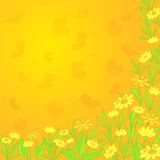 Background with flowers and butterflies Royalty Free Stock Images