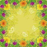 Background, flowers and butterflies royalty free illustration