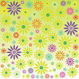 Background with flowers color vector. Background with flowers vector art illustration Stock Images