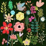 Background with flowers. Colorful background with beautiful flowers royalty free illustration
