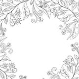Background, flowers, contours Royalty Free Stock Image