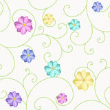 Background with flowers and curls Royalty Free Stock Photos