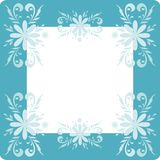 Background, flowers and frame Royalty Free Stock Photo