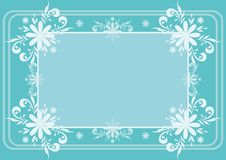 Background, flowers and frame Stock Image