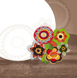 Background with flowers and frame Stock Image