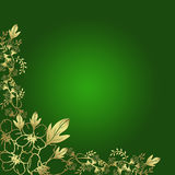 Background of flowers. Background of flowers in green Royalty Free Stock Photo