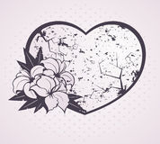 Background with  flowers and heart Royalty Free Stock Photos