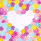 Background with flowers and heart Stock Images