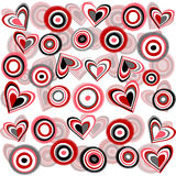 Background with flowers and hearts stock illustration