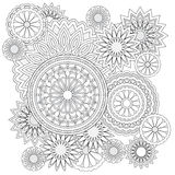 Background with  flowers and mandalas Royalty Free Stock Photo