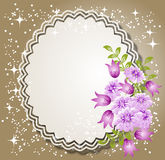 Background with flowers and napkin Royalty Free Stock Image