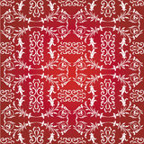 Background flowers pattern. Floral vector pattern on the red background Royalty Free Stock Photo
