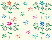 Background  flowers. Background pattern of flowers made ​​with the program Royalty Free Stock Photo