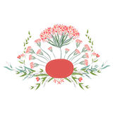 Background with flowers in retro Stock Photography