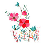 Background with flowers in retro Royalty Free Stock Photography