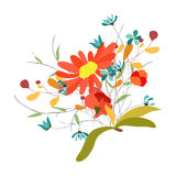 Background with flowers in retro Stock Image