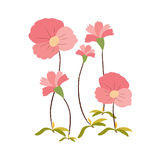 Background with flowers in retro Royalty Free Stock Photo