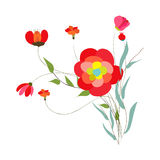 Background with flowers in retro Royalty Free Stock Photos