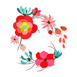Background with flowers in retro Royalty Free Stock Images