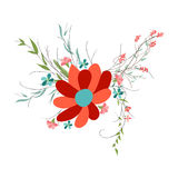 Background with flowers in retro Stock Images