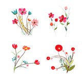 Background with flowers in retro Stock Photos