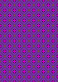 Background with flowers in rhombuses purple shades Stock Images