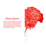 Background of flowers rose. Watercolor background of flowers rose. Vector illustration Stock Photos