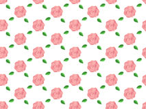 Background flowers roses pattern seamless vector illustration Stock Photos