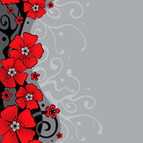 Background with flowers Stock Photo