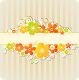 Background with flowers and strips Royalty Free Stock Photo