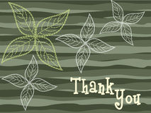 Background with flowers and thankyou text Royalty Free Stock Photography