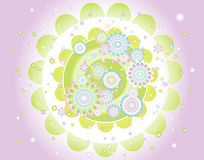 Background of  flowers,vector  Stock Image