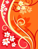 Background flowers vector. Plant leaf and flovers vector nature background Royalty Free Illustration