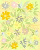 Background flowers vector. Plant leaf and flovers vector nature background Vector Illustration
