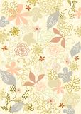 Background flowers vector. Background textile nature vector plant leaf and flovers Stock Image