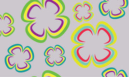 Background with flowers. Vector background with color flowers royalty free illustration
