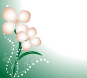 Background with flowers. Vector greeting card with flowers royalty free illustration