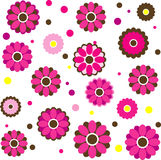 Background with  flowers. Vector Illustration Royalty Free Stock Photos