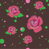 Background with flowers .Vector illustration Royalty Free Stock Photography