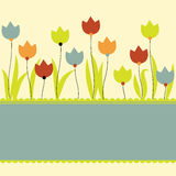 Background with flowers. Vector illustration Royalty Free Stock Photo